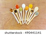 herbs and spices.aromatic... | Shutterstock . vector #490441141