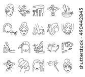 beauty  skin care  manicure ... | Shutterstock .eps vector #490442845