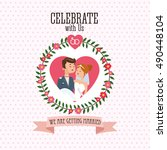 wedding and marriage couple... | Shutterstock .eps vector #490448104