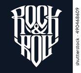 rock music print  hipster... | Shutterstock .eps vector #490468609