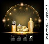 beauty skin care set .double... | Shutterstock .eps vector #490468915