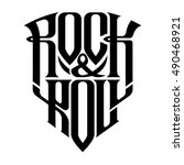 rock music print  hipster... | Shutterstock .eps vector #490468921