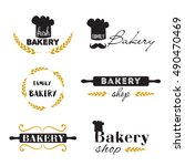 set of vector bread bakery... | Shutterstock .eps vector #490470469
