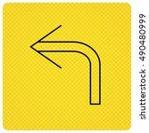turn left arrow icon. previous...