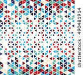 vector color pattern. geometric ... | Shutterstock .eps vector #490481914