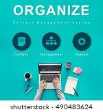 organize website development... | Shutterstock . vector #490483624
