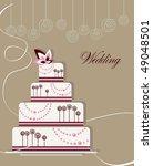 wedding cake | Shutterstock .eps vector #49048501