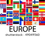 collection of european flags  ... | Shutterstock .eps vector #49049560