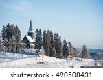 Christmas Snow Landscape With...