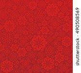 chinese red background with... | Shutterstock .eps vector #490508569