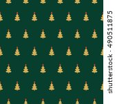 abstract christmas seamless...   Shutterstock .eps vector #490511875
