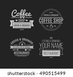 vintage logo. coffee shop... | Shutterstock .eps vector #490515499