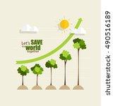 green economy concept   graph... | Shutterstock .eps vector #490516189