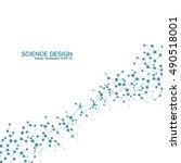 dna and neurons vector.... | Shutterstock .eps vector #490518001