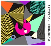 abstract modern triangles... | Shutterstock .eps vector #490521151