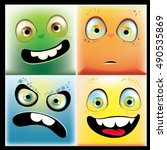 cartoon faces | Shutterstock .eps vector #490535869