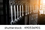 set mechanical  tools.... | Shutterstock . vector #490536901
