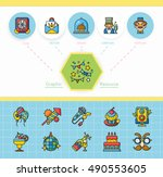 icon set photo vector   Shutterstock .eps vector #490553605