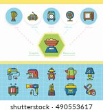 icon set appliances vector | Shutterstock .eps vector #490553617