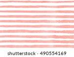 watercolor light pink brush...   Shutterstock . vector #490554169