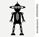 robot android  flat design style | Shutterstock .eps vector #490554961