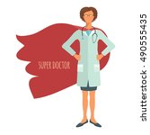 super doctor. professional in... | Shutterstock .eps vector #490555435