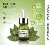 essential oil ad template  tea... | Shutterstock .eps vector #490560427