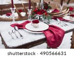 Wedding Table Setting In...