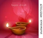 diwali festival background. | Shutterstock .eps vector #490573129