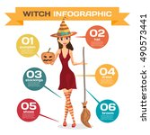 infographic set with elements... | Shutterstock .eps vector #490573441