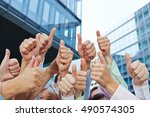 group of business people... | Shutterstock . vector #490574305