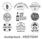 set of vintage handcrafted... | Shutterstock .eps vector #490575049