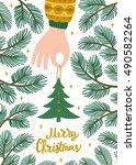 vector christmas background... | Shutterstock .eps vector #490582264