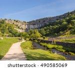 malham  yorkshire  uk. august... | Shutterstock . vector #490585069