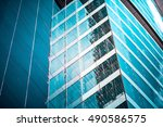 modern architecture close up | Shutterstock . vector #490586575