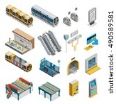underground isometric set with ...