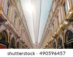 The Galeries Royales Saint-Hubert is a glazed shopping arcade in Brussels that preceded other famous 19th-century shopping arcades