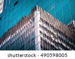 modern architecture close up | Shutterstock . vector #490598005