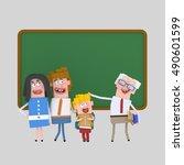 3d illustration. parents... | Shutterstock . vector #490601599