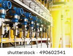 pressure transmitter in oil and ... | Shutterstock . vector #490602541
