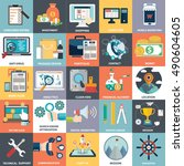 vector collection of flat and... | Shutterstock .eps vector #490604605