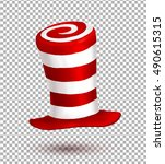 red and white colors striped... | Shutterstock .eps vector #490615315