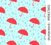 seamless pattern. simple... | Shutterstock .eps vector #490617601