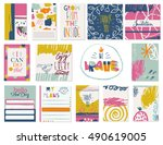 design of daily planner with... | Shutterstock .eps vector #490619005