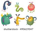 cartoon monsters. vector set of ...   Shutterstock .eps vector #490619347