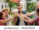 leisure  holidays  people ... | Shutterstock . vector #490625029
