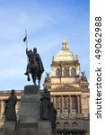 Saint Wenceslas Statue In Fron...