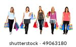 women  standing with shopping... | Shutterstock . vector #49063180