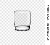 empty drinking glass cup.... | Shutterstock .eps vector #490648819
