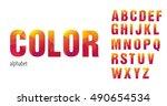 bright geometric alphabet ... | Shutterstock .eps vector #490654534